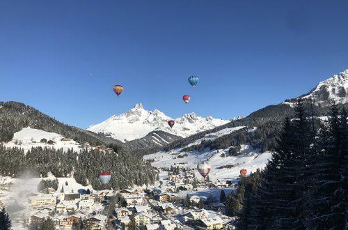 let balónom v alpách